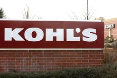 The sign outside a Kohl's store is seen in Broomfield, Colorado February 27, 2014.  REUTERS/Rick Wilking