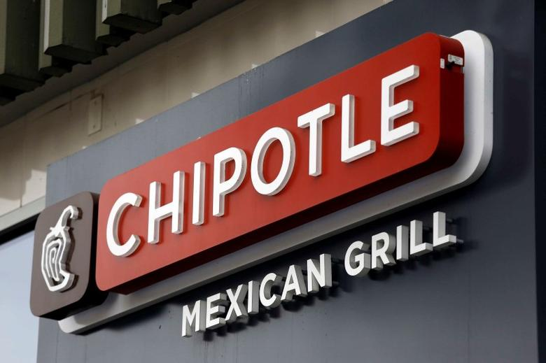 A sign is seen at a Chipotle Mexican Grill restaurant in San Francisco, California, in this file photo taken July 21, 2015. REUTERS/Robert Galbraith/Files