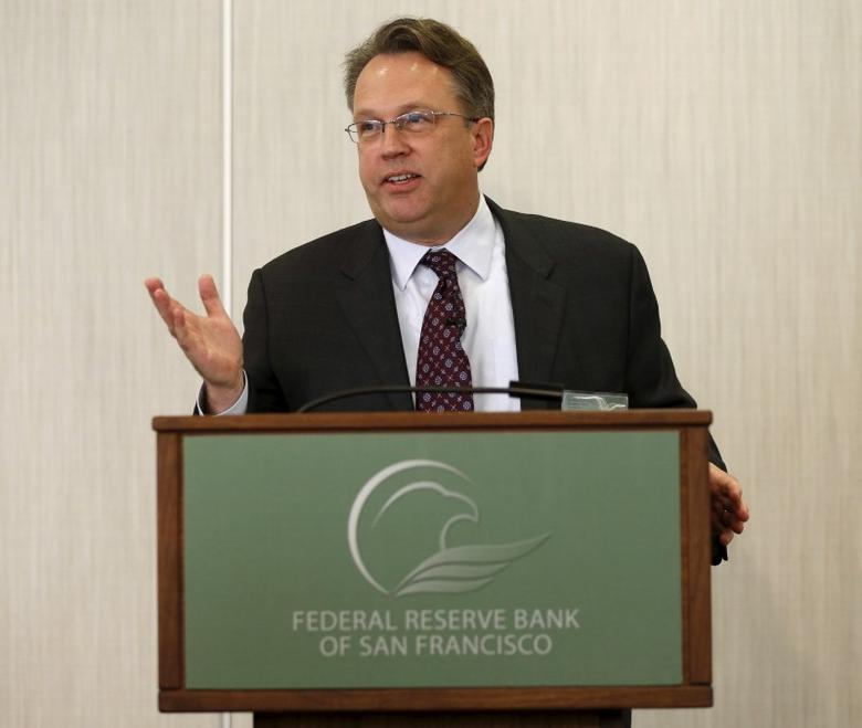 John Williams, president of the Federal Reserve Bank of San Francisco, speaks in San Francisco, California March 27, 2015. REUTERS/Robert Galbraith