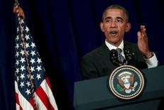 Президент США Барак Обама на пресс-конференции в Куала-Лумпур 22 ноября 2015 г. REUTERS/Jonathan Ernst
