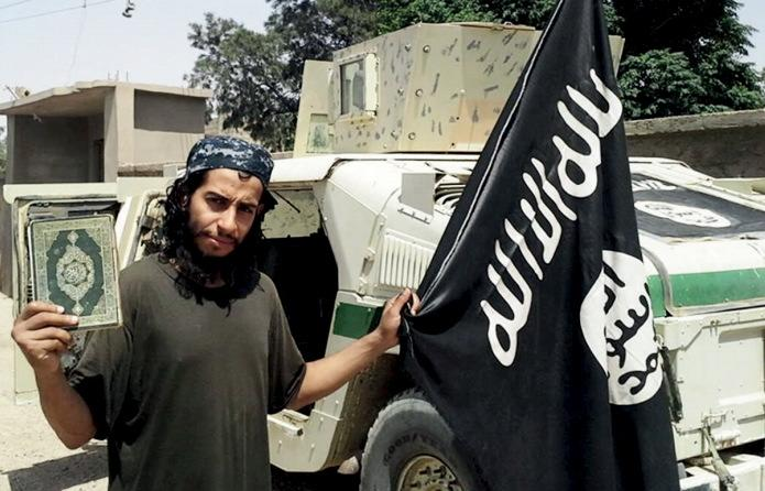 An undated photograph of a man described as Abdelhamid Abaaoud that was published in the Islamic State's online magazine Dabiq. REUTERS/Social Media Website via Reuters TV
