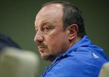 Técnico do Real Madrid, Rafael Benitez, concede entrevista.  24/11/15.  REUTERS/Gleb Garanich