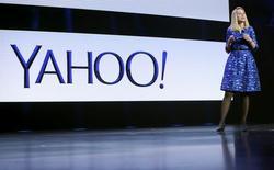 La presidenta ejecutiva de Yahoo, Marissa Mayer, durante una conferencia para consumidores de aparatos electrónicos en Las Vegas, 7 de enero de 2014. El directorio de la compañía de búsquedas y publicidad en línea Yahoo Inc está sopesando la venta de su negocio principal de Internet cuando se reúna esta semana, dijo a Reuters una fuente familiarizada con el asunto. REUTERS/Robert Galbraith