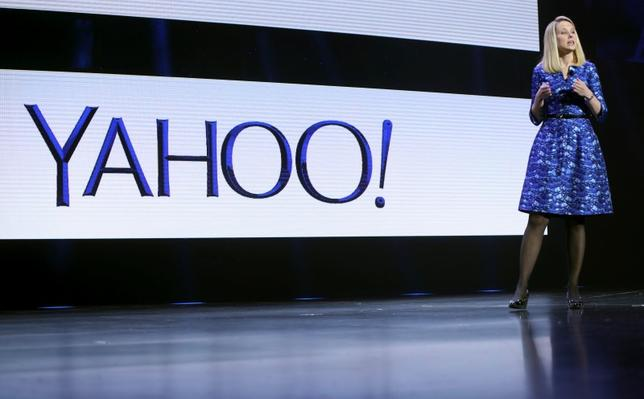 Yahoo CEO Marissa Mayer speaks during her keynote address at the annual Consumer Electronics Show (CES) in Las Vegas, Nevada in this file photo taken on January 7, 2014. REUTERS/Robert Galbraith