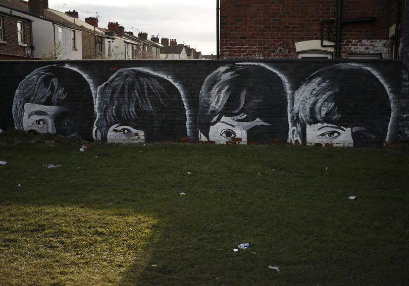 Birthplace of the beatles for Abbey road mural