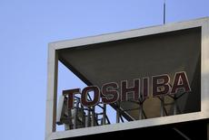 The logo of Toshiba Corp is seen at its headquarters in Tokyo, Japan, in this November 6, 2015 file photo.  REUTERS/Yuya Shino/Files