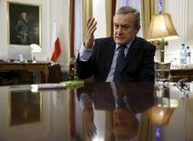 Ministro da Cultura da Polônia, Piotr Glinski, durante entrevista à Reuters em Varsóvia.   30/11/2015   REUTERS/Kacper Pempel