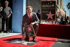 Ator Will Ferrell posa na Calçada da Fama de Hollywood.  24/3/2015. REUTERS/Lucy Nicholson