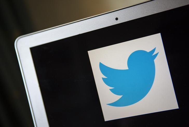 A portrait of the Twitter logo in Ventura, California December 21, 2013. REUTERS/Eric Thayer/Files