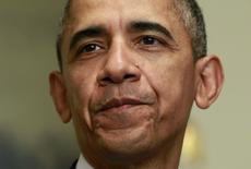 Presidente dos EUA, Barack Obama, durante evento na Casa Branca.  12/12/2015   REUTERS/Yuri Gripas