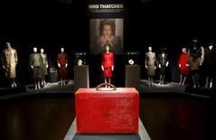 The Prime Ministerial Dispatch Box, part of the collection of former British prime minister Margaret Thatcher during an auction preview at Christie's in London, Britain, December 11, 2015. REUTERS/Peter Nicholls