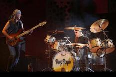 Bass player Roger Glover (L) of rock band Deep Purple performs during the 12th Mawazine World Rhythms international music festival in Rabat May 30, 2013. REUTERS/Youssef Boudlal