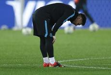 Messi durante treino em Yokohama.  16/12/2015. REUTERS/Yuya Shino
