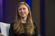 Chelsea Clinton takes part in a discussion during the Clinton Global Initiative's annual meeting in New York, September 29, 2015.  REUTERS/Lucas Jackson