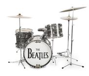 Ringo Starr's iconic 1963 Ludwig Oyster Black Pearl three-piece drum kit used to record some of The Beatles biggest hits is seen in an undated handout picture courtesy of Julien's Auctions in Beverly Hills, California. REUTERS/Courtesy of Julien's Auctions/Handout via Reuters