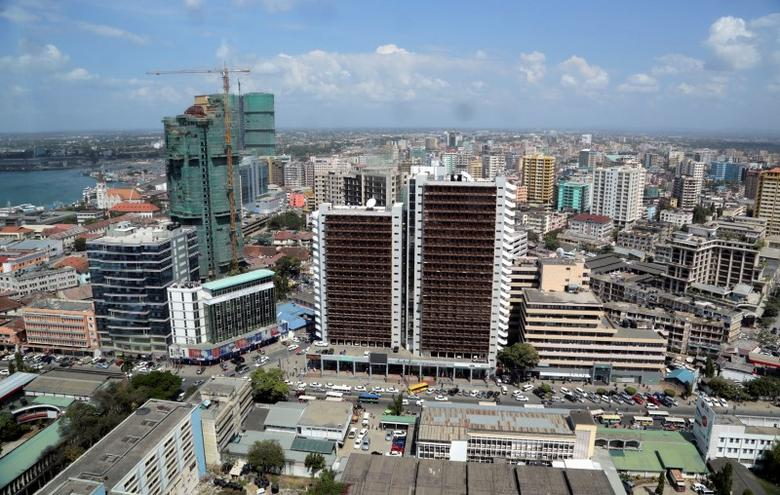 A general picture shows the skyline of Tanzania's port city of Dar es Salaam, July 12, 2013. REUTERS/Andrew Emmanuel