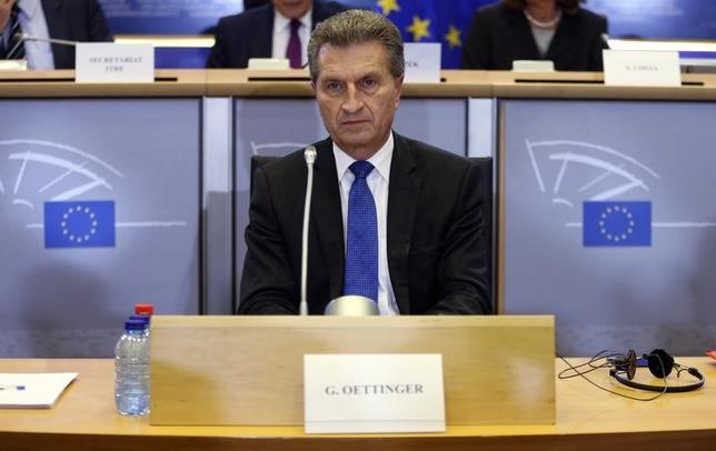 European Digital Economy and Society Commissioner-designate Guenther Oettinger of Germany waits for his hearing before the European Parliament's Committee on Industry, Research, Energy, Culture and Education at the EU Parliament in Brussels September 29, 2014.     REUTERS/Francois Lenoir