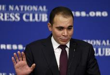 Jordanian Prince Ali bin al-Hussein discusses the FIFA corruption scandal at the National Press Club in Washington December 4, 2015   REUTERS/Gary Cameron