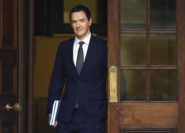 Britain's Chancellor of the Exchequer George Osborne leaves the Treasury to present the Autumn Statement to Parliament in London, Britain November 25, 2015. REUTERS/Andy Rain/pool