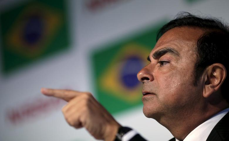 Carlos Ghosn, CEO of the Renault-Nissan Alliance attends a news conference in Rio de Janeiro, Brazil, January 4, 2016. REUTERS/Ricardo Moraes
