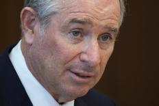 Stephen A. Schwarzman, Chairman, CEO and Co-Founder of the Blackstone Group, speaks during a news conference in Hong Kong October 26, 2012.    REUTERS/Tyrone Siu