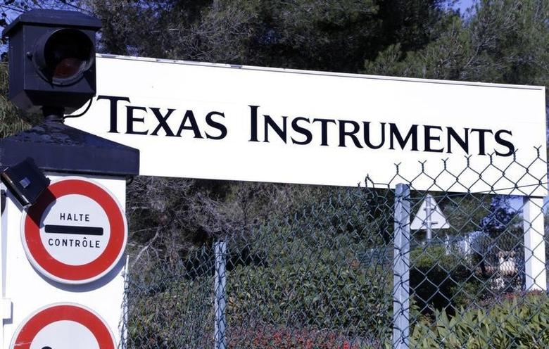 View of the entrance of the research building of Texas Instruments France firm in Villeneuve-Loubet near Nice December 18, 2012.    REUTERS/Eric Gaillard