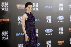 "Cast member Daisy Ridley arrives at the China Premiere of the film ""Star Wars: The Force Awakens"" in Shanghai, China, December 27, 2015. REUTERS/Aly Song"