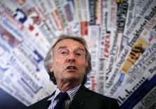 Chairman for Rome's Olympic bid Luca Cordero di Montezemolo speaks during a news conference at the headquarters of foreign press in Rome, January 11, 2016. REUTERS/Alessandro Bianchi