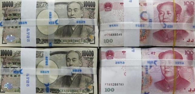 1月12日、日銀と中国人民銀行が、通貨スワップ協定の締結に向けて交渉していることが明らかになった。 ソウルで2010年10月撮影(2016年 ロイター/ee Jae Won)