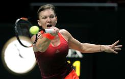 Tennis - BNP Paribas WTA Finals - Singapore Indoor Stadium, Singapore Sports Hub - 29/10/15 Romania's Simona Halep in action in the round robin match Action Images via Reuters / Jeremy Lee Livepic
