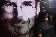 Quadro em homenagem a Steve Jobs em Manila, Filipinas 14/10/2011  REUTERS/Romeo Ranoco