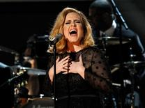 "Adele performs ""Rolling in the Deep"" at the 54th annual Grammy Awards in Los Angeles, California, February 12, 2012.     REUTERS/Mario Anzuoni"