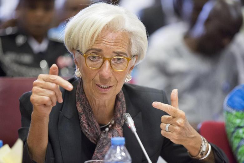 International Monetary Fund (IMF) Managing Director Christine Lagarde   in Abuja, Nigeria, in this January 6, 2016 handout photo by IMF. REUTERS/Stephen Jaffe/IMF Staff Photo/Handout via Reuters