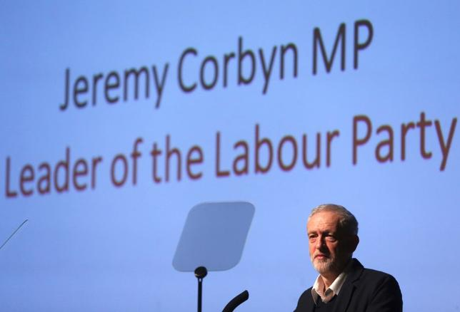 Labour Party leader Jeremy Corbyn delivers the keynote speech at the Fabian Society new year conference in London, Britain January 16, 2016. REUTERS/Neil Hall