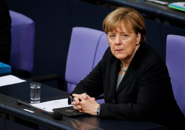 German Chancellor Angela Merkel attends a session of the German lower house of parliament, the Bundestag, in Berlin, Germany, January 13, 2016. REUTERS/Fabrizio Bensch