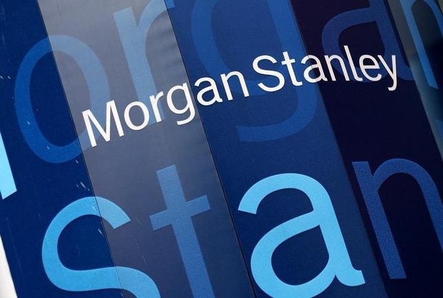 1月19日、米モルガンSが発表した第4・四半期決算は黒字転換した。写真はニューヨークで昨年1月撮影(2016年 ロイター/Mike Segar)