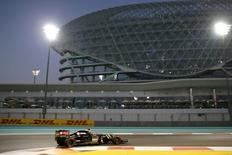 Formula One - F1 - Abu Dhabi Grand Prix 2015 - Yas Marina Circuit, Abu Dhabi, United Arab Emirates - 27/11/15.Lotus' Pastor Maldonado during practice. Mandatory Credit: Action Images / Hoch Zwei