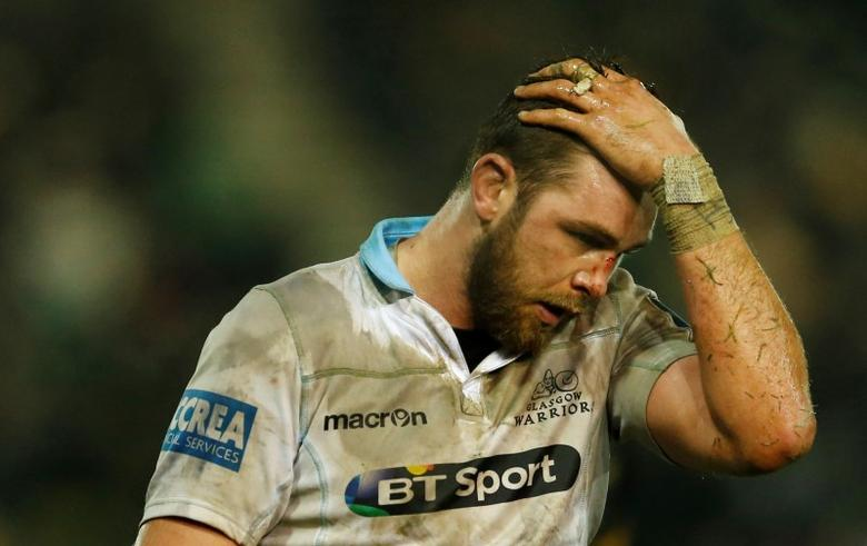 Rugby Union - Northampton Saints v Glasgow Warriors - European Rugby Champions Cup Pool Three - Franklin's Gardens - 17/1/16Glasgow?s Ryan Wilson looks dejectedMandatory Credit: Action Images / Andrew BoyersLivepic