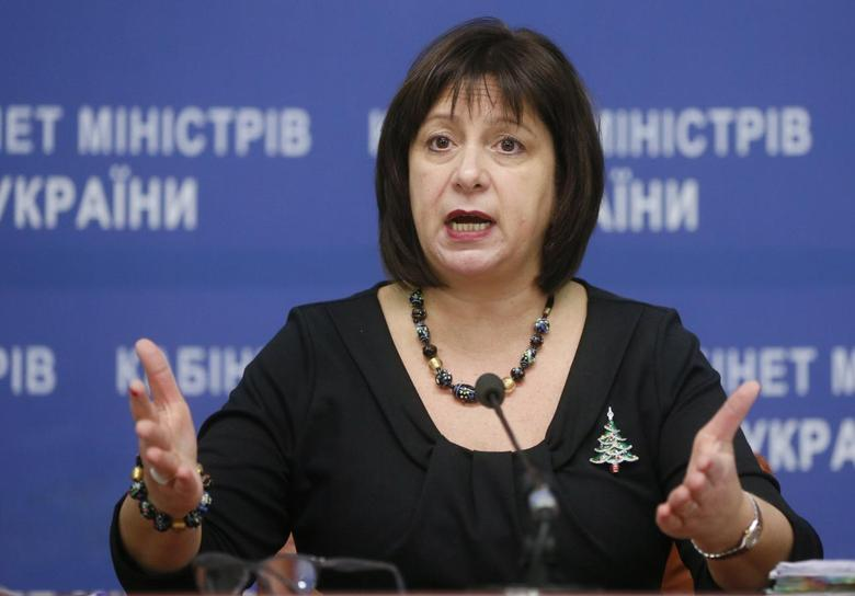Ukraine's Finance Minister Natalia Yaresko speaks during a news conference in Kiev, Ukraine, December 30, 2015. REUTERS/Valentyn Ogirenko