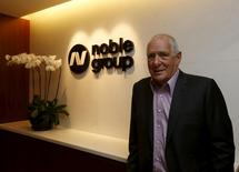 Noble Group founder and Chairman Richard Elman poses at his office in Hong Kong, China January 22, 2016.     REUTERS/Bobby Yip