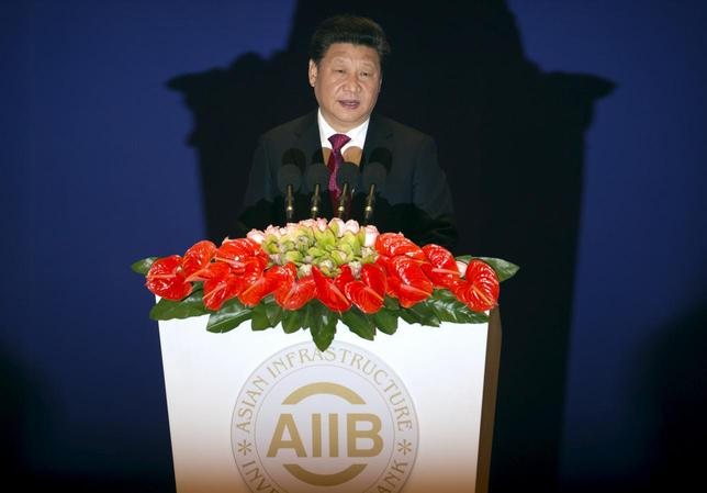 Chinese President Xi Jinping speaks during the opening ceremony of the Asian Infrastructure Investment Bank (AIIB) in Beijing, China, January 16, 2016. REUTERS/Mark Schiefelbein/Pool