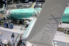 A wing of the Boeing 737 MAX is pictured during a media tour of the Boeing 737 MAX at the Boeing plant in Renton, Washington December 7, 2015. REUTERS/Matt Mills McKnight