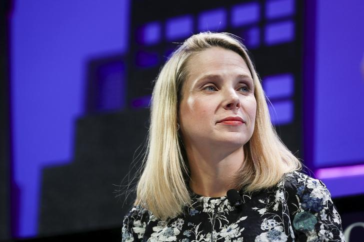 Marissa Mayer, President and CEO of Yahoo, participates in a panel discussion at the 2015 Fortune Global Forum in San Francisco, California November 3, 2015. REUTERS/Elijah Nouvelage/Files