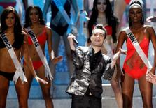 Brendon Urie, lead singer of the band Panic! at the Disco, performs at the Miss Universe 2013 pageant at the Crocus City Hall in Moscow November 9, 2013. REUTERS/Maxim Shemetov