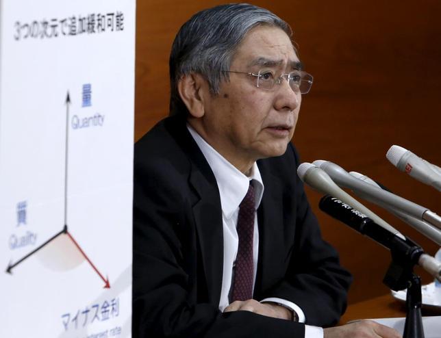 2月3日、日銀が切った「マイナス金利」のカードは、市場の意表を突いて、株安・円高の流れを止めた。写真は黒田日銀総裁。都内で1月撮影(2016年 ロイター/Yuya Shino)