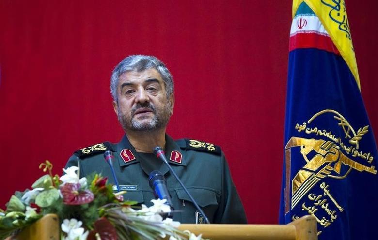 Iran's Revolutionary guards commander Mohammad Ali Jafari speaks during a conference to mark the martyrs of terrorism in Tehran September 6, 2011. REUTERS/Morteza Nikoubazl