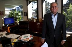Leslie Moonves, President and Chief Executive Officer of CBS Corporation, poses for a portrait in his office in Studio City, California February 1, 2016.  REUTERS/Mario Anzuoni