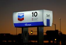 A Chevron gas station is seen in Cardiff, California January 25, 2016. REUTERS/Mike Blake