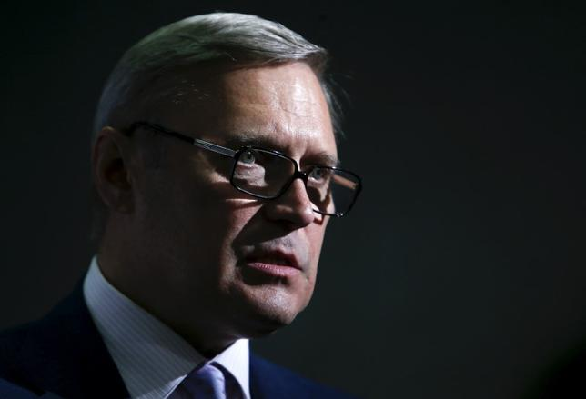Russian opposition leader Mikhail Kasyanov addresses a news conference during a break in congress of his RPR-Parnas (Republican Party of Russia- People's Freedom Party) party in Moscow July 5, 2015.  REUTERS/Sergei Karpukhin