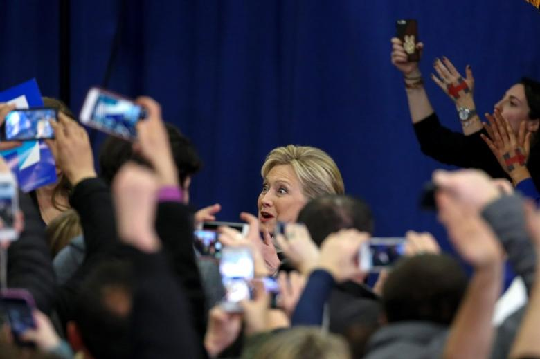 Democratic presidential candidate Hillary Clinton greets supporters at her final 2016 New Hampshire presidential primary night rally in Hooksett, New Hampshire February 9, 2016. REUTERS/Adrees Latif . SAP is the sponsor of this content. It was independently created by Reuters' editorial staff and funded in part by SAP, which otherwise has no role in this coverage.